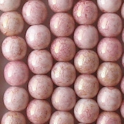 6mm Light Pink Gold Luster Beads [50]