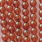 6mm Rose/Gold Luster Round Beads [50]