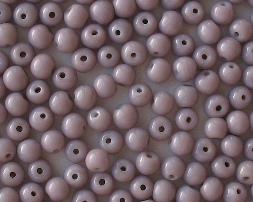 7mm Opaque Lavender Round Beads [50]