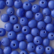 4.5mm Opaque Blue Round Beads [100]