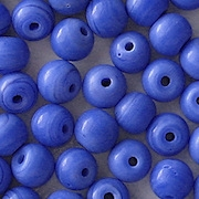 7mm Opaque Blue Beads [50]