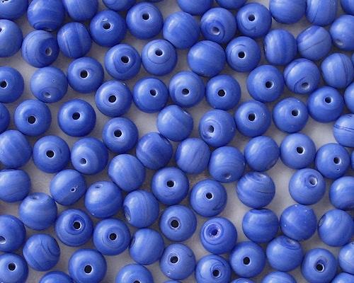 8mm Opaque Blue Matte Round Beads [50]