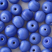 8mm Opaque Blue Matte Round Beads [50]
