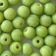 7mm Opaque Lime Green Matte Round Beads [50]