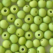 4.5mm Opaque Lime Green Round Beads [100]