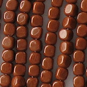 3.5mm Brown Umber Cube Beads [100]
