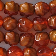 9mm Orange/Brown Umber Baroque Beads [25]