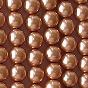 6mm 'Cinnamon' Round Glass Pearls [50]