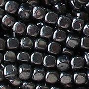 3.5mm 'Hematite' Cube Beads [100]