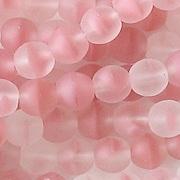 6mm Pink Givre Matte Beads [50]