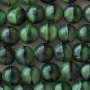 7mm Green Tiger Beads [50]