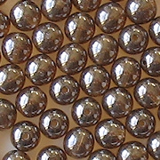 6mm Brown Luster Round Beads [50]