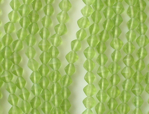 6mm Lime Green Matte Bicone Beads [50]