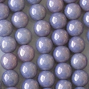 6mm Opaque Amethyst Luster Round Beads [50]