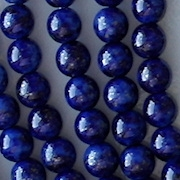 6mm Dark Blue Mottled Coated Round Beads [50]