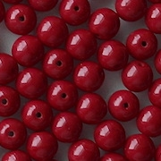 6mm Red-to-Maroon Round Beads [50] (see Comments)