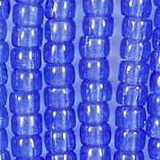 4x6mm Sapphire Blue Pony Beads [50]