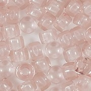 4x6mm Light Peach Pink Pony Beads [50]