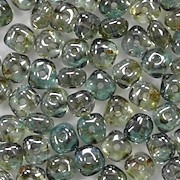3x5mm Green Luster Nugget-Shaped Rondelle Beads [100]
