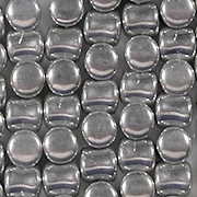 5mm Silver-Colored Hourglass Beads [44] (see Comments)