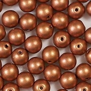 6mm Copper Matte Coated Round Beads [50]