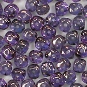 3x5mm Amethyst/Gold-Luster Nugget-Shaped Rondelle Beads [100] (see Comments)