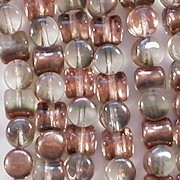 5mm Clear/Copper Hourglass Beads [44] (see Comments)