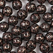 6mm Copper/Black Mottled Round Beads [50]