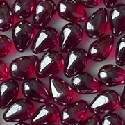 9mm Ruby/Hematite Luster Teardrop Beads [50] (see Comments)