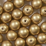 8mm Gold Matte Coated Round Beads [50]
