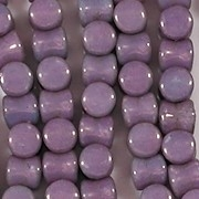 5mm Purple/Gold Luster Hourglass Beads [44]