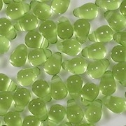 6mm Lime Green Teardrop Beads [100]