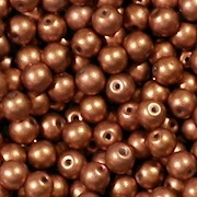 4mm Copper Matte Coated Round Beads [100]