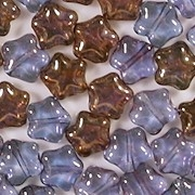 8mm Lavender and Bronze Star Beads [50]