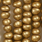6x8mm Gold Coated Matte Nugget-Shaped Beads [50]