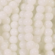 4mm Semi-Opaque White Beads [79]