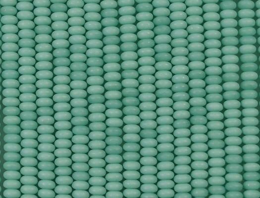 2x4mm Turquoise Matte Rondelle Beads [100]