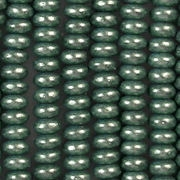 2x4mm Greenish-Aqua Metallic Rondelle Beads [100]