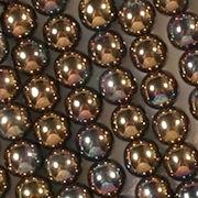 6mm Bronze Iris Round Beads [50]