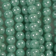 4mm Turquoise Luster Round Beads [100]