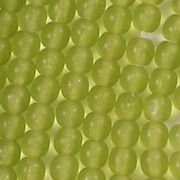 4mm Olive Green Matte Round Beads [100]