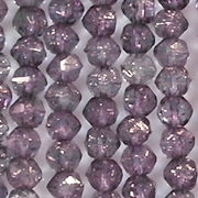 4mm Amethyst/Copper English-Cut Beads [100]