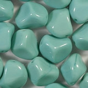 14mm Greenish-Turquoise Nugget Beads [15] (see Defects)
