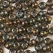 4mm Dark Bronze Iris Seed Beads [400]