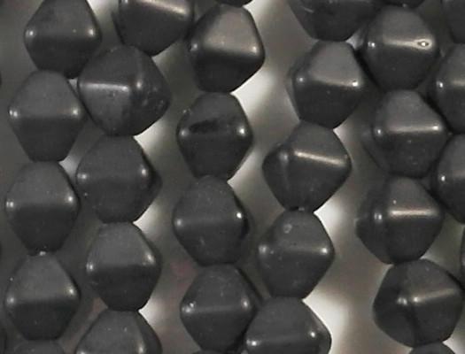 6mm Black Matte Bicone Beads [50]