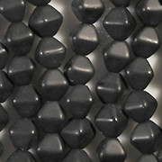 6mm Black Matte Bicone Beads [50]