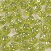 3x5mm Olive Green Luster Nugget-Shaped Rondelle Beads [100] (see Comments)