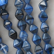 6mm 'Blue Lapis' Bicone Beads [50]