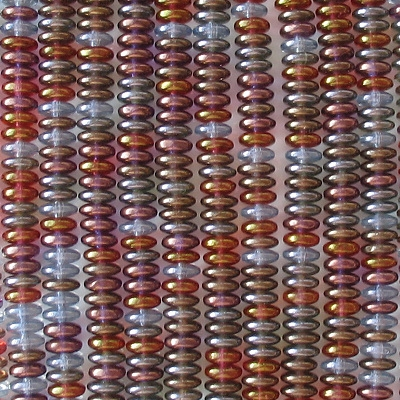 2x6mm Mixed Luster Rondelle Beads [100]