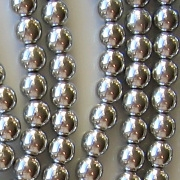 6mm Silver-Colored Beads [50]
